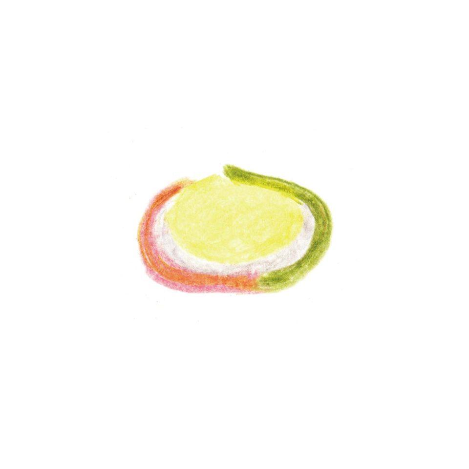 毎日が和菓子日和 | 引網香月堂 | ハレルヤ(限定上生菓子・断面イメージ)
