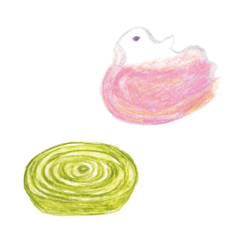毎日が和菓子日和 | 塩野 | 水鳥と水輪(干菓子)
