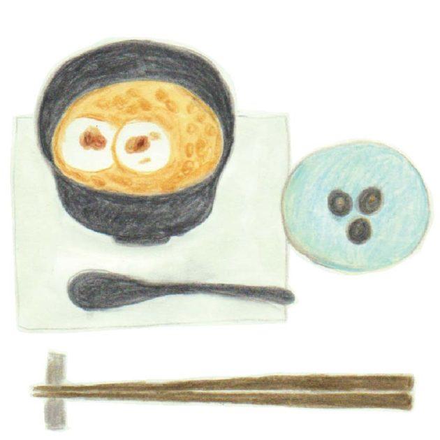 毎日が和菓子日和   京都・宝泉茶寮   丹波白小豆ぜんざい