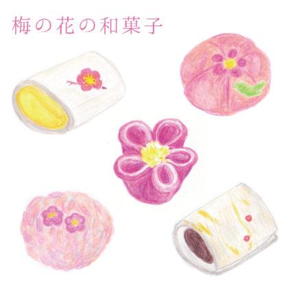 毎日が和菓子日和 | 梅の花の和菓子