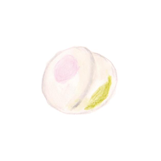 毎日が和菓子日和   一炉庵   薯蕷饅頭(桃形)