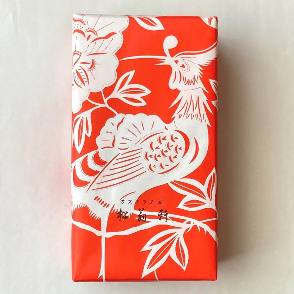 長崎・松翁軒   桃カステラの包み紙