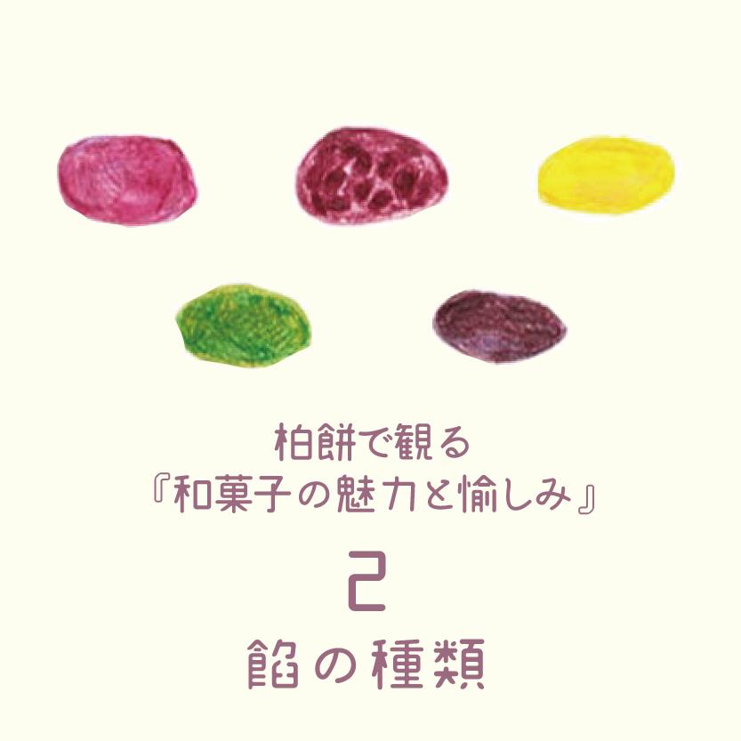 毎日が和菓子日和 | 和菓子の魅力 | 柏餅で観る和菓子の魅力と愉しみ | 2.餡の種類