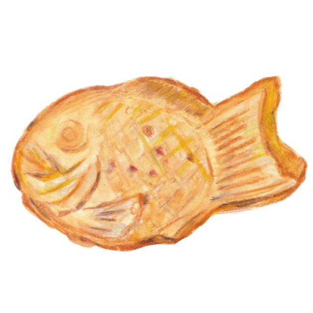 神奈川県川崎市多摩区   伝菓 丸庵   たい焼き 稲城梨カスタード、つぶあん